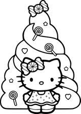 Imprimer le coloriage : Hello Kitty, numéro 6da84ba8