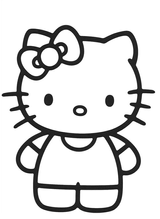 Imprimer le coloriage : Hello Kitty, numéro 754981