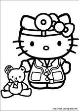 Imprimer le coloriage : Hello Kitty, numéro 759766
