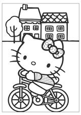 Imprimer le coloriage : Hello Kitty, numéro 759767