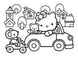 Imprimer le coloriage : Hello Kitty, numéro 80ea7387