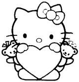 Imprimer le coloriage : Hello Kitty, numéro 8638