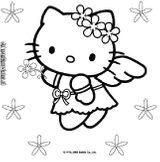 Imprimer le coloriage : Hello Kitty, numéro 9476
