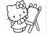 Imprimer le coloriage : Hello Kitty, numéro 9482