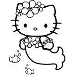 Imprimer le coloriage : Hello Kitty, numéro 961