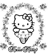 Imprimer le coloriage : Hello Kitty, numéro 962