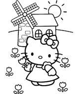 Imprimer le coloriage : Hello Kitty, numéro 976