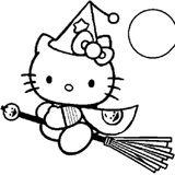 Imprimer le coloriage : Hello Kitty, numéro 983