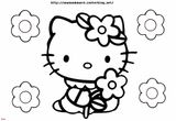 Imprimer le coloriage : Hello Kitty, numéro 9906ffbd