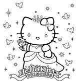 Imprimer le coloriage : Hello Kitty, numéro 9c744acf