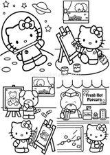 Imprimer le coloriage : Hello Kitty, numéro ac56b364