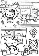 Imprimer le coloriage : Hello Kitty, numéro b7cd7aa5