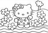 Imprimer le coloriage : Hello Kitty, numéro c098ce80
