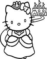 Imprimer le coloriage : Hello Kitty, numéro c8054aad
