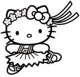 Imprimer le coloriage : Hello Kitty, numéro daac2517