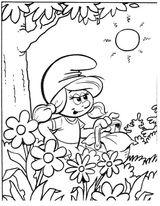 Imprimer le coloriage : Schtroumpf costaud, numéro 184d6748