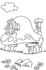 Imprimer le coloriage : Schtroumpf costaud, numéro 4636