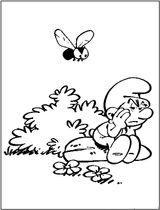 Imprimer le coloriage : Schtroumpf costaud, numéro cb683143