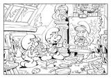 Imprimer le coloriage : Schtroumpf costaud, numéro eaa3b707