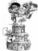 Imprimer le coloriage : Schtroumpf gourmand, numéro 13191