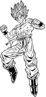 Imprimer le coloriage : Dragon Ball, numéro 18210