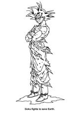 Imprimer le coloriage : Dragon Ball, numéro 27900