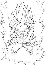 Imprimer le coloriage : Dragon Ball, numéro 54087