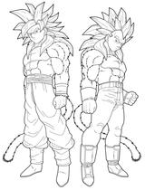 Imprimer le coloriage : Son Goku, numéro 21748