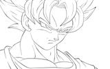 Imprimer le coloriage : Son Goku, numéro 26694
