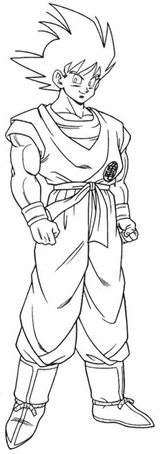 Imprimer le coloriage : Son Goku, numéro 2724