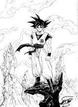 Imprimer le coloriage : Son Goku, numéro 2731