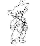 Imprimer le coloriage : Son Goku, numéro 2734