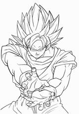 Imprimer le coloriage : Son Goku, numéro 2738
