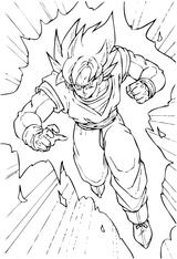 Imprimer le coloriage : Son Goku, numéro 2746
