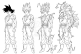 Imprimer le coloriage : Son Goku, numéro 459294