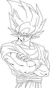 Imprimer le coloriage : Son Goku, numéro 563354
