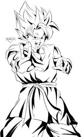 Imprimer le coloriage : Son Goku, numéro 676711