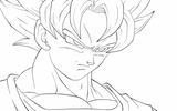 Imprimer le coloriage : Son Goku, numéro 755278