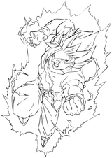 Imprimer le coloriage : Son Goku, numéro 755280