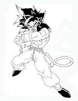 Imprimer le coloriage : Son Goku, numéro 759910