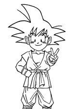Imprimer le coloriage : Son Goku, numéro 9204