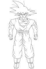 Imprimer le coloriage : Son Goku, numéro 9650