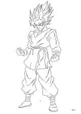 Imprimer le coloriage : Son Goku, numéro 9651