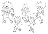 Imprimer le coloriage : Naruto numéro 4986