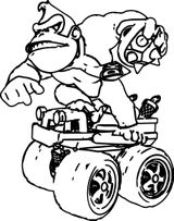 Imprimer le coloriage : Donkey Kong, numéro 832b354e