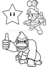 Imprimer le coloriage : Donkey Kong, numéro 87a64d24