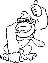 Imprimer le coloriage : Donkey Kong, numéro f67ec76b