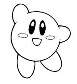 Imprimer le coloriage : Kirby, numéro 2143