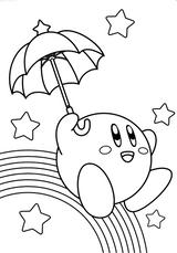 Imprimer le coloriage : Kirby, numéro 2149