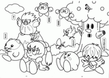Imprimer le coloriage : Kirby, numéro 2a22c952
